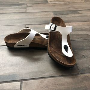 BIRKENSTOCK White Gizeh Thong Sandals Size 37